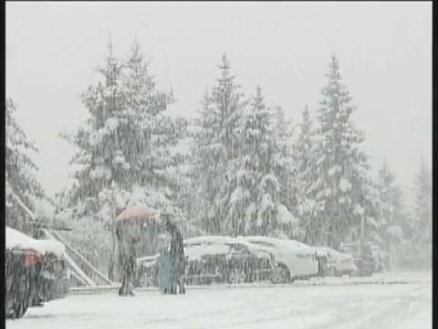 Chiny - W kilka godzin wiosna zamieniła się w zimę