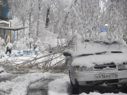Do Rosji wróciła zima, mrozy i śnieżyce 1