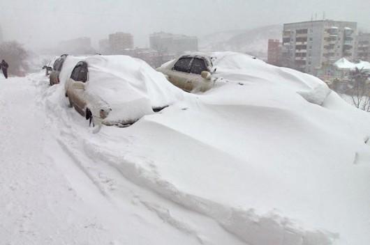 Do Rosji wróciła zima, mrozy i śnieżyce 5
