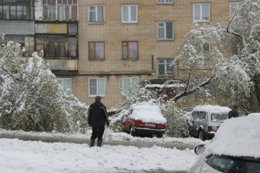 Po śnieżycy w rejonie Czelabińska w Rosji. Fot. Severe Weather Ru.