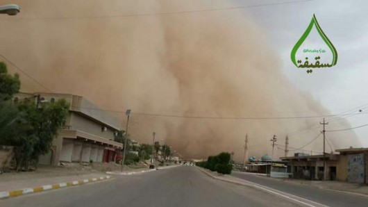 Fallujah, Irak - Potężna burza piaskowa 1