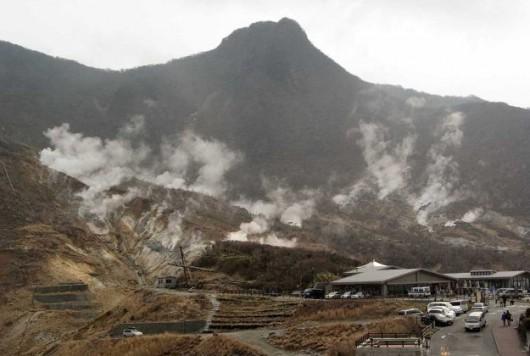 Japonia - Wzrasta temperatura i ilość gazów, pojawiły się również wstrząsy sejsmiczne przy wulkanie Hakone 3