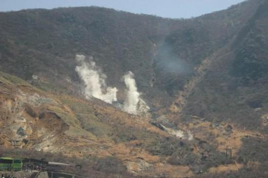 Japonia - Wzrasta temperatura i ilość gazów, pojawiły się również wstrząsy sejsmiczne przy wulkanie Hakone