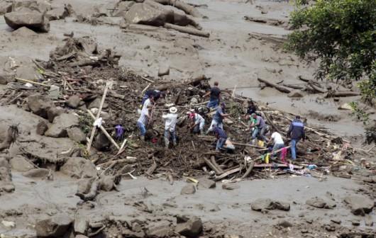 Kolumbia - Lawina błotna zniszczyła miasto Saglar, co najmniej 92 ofiary śmiertelne 2