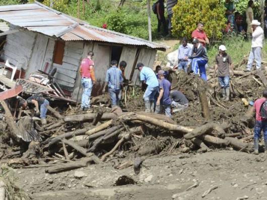 Kolumbia - Lawina błotna zniszczyła miasto Saglar, co najmniej 92 ofiary śmiertelne