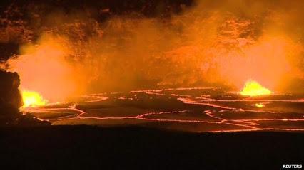 Lawa w wulkanie Kilauea