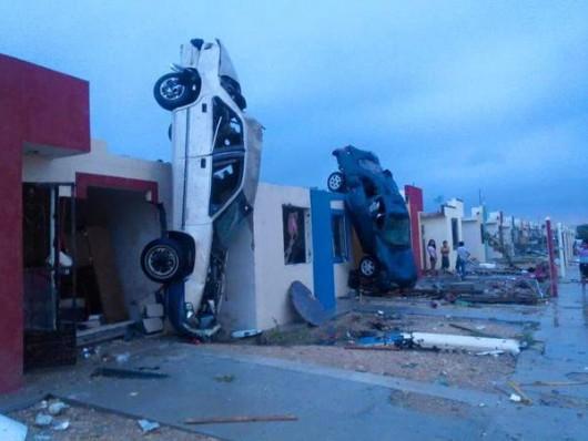 Meksyk - Potężne tornado przeszło przez graniczne miasto Ciudad Acuna 1