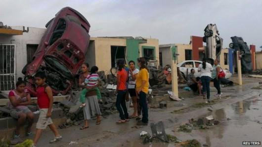 Meksyk - Potężne tornado przeszło przez graniczne miasto Ciudad Acuna 2
