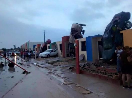Meksyk - Potężne tornado przeszło przez graniczne miasto Ciudad Acuna 4