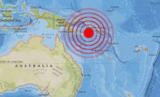 Papua-Nowa Gwinea - Silne trzęsienie ziemi, magnituda 7.5
