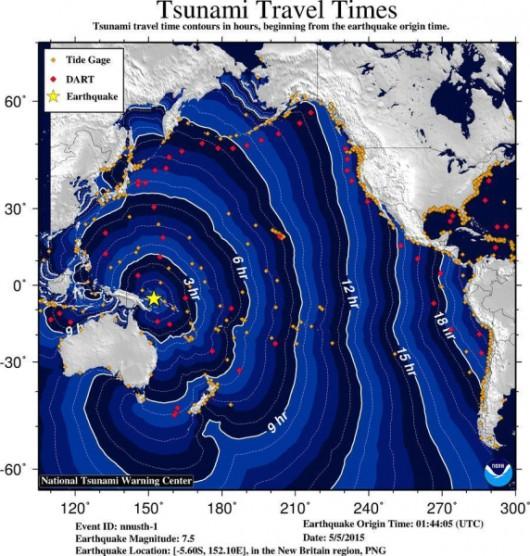 Papua-Nowa Gwinea - Silne trzęsienie ziemi, magnituda 7.5 - Tsunami