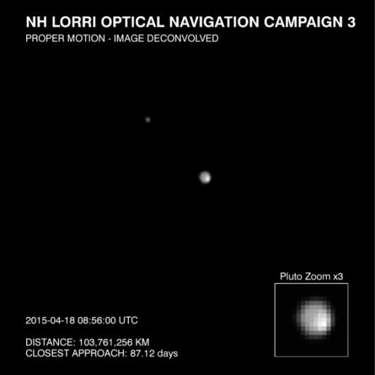 Pierwsze ujęcia Plutona wykonane przez New Horizons