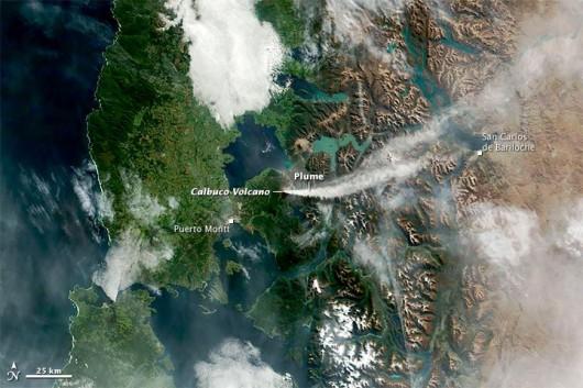 Popiół wulkaniczny z Calbuco
