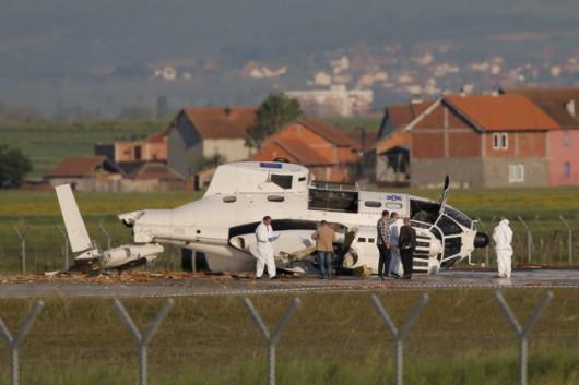 Prisztina, Kosowo - Rozbił się helikopter misji UE