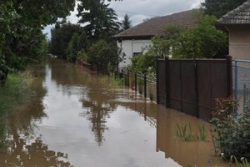 Słowacja - Ulewne deszcze zalały domy i drogi 1