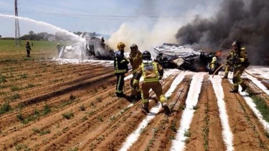 Sewilla, Hiszpania - Rozbił się najnowszy wojskowy Airbus A400 1