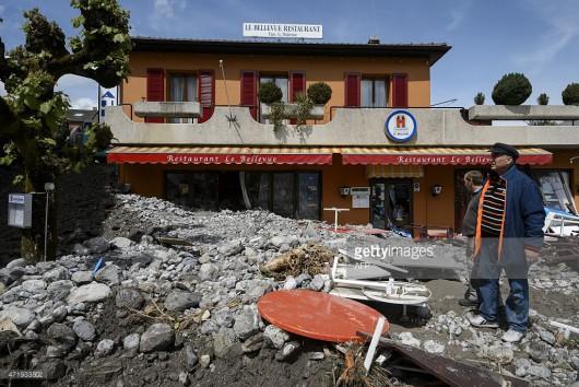 Szwajcaria - Ogłoszono pomarańczowy alert pogodowy, spadło 130 lmkw deszczu 3