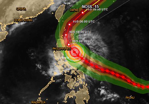Tajfun Noul dotarł do Filipin, wiatr wieje w porywach do 257 kmh 4