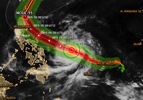 Tajfun Noul kieruje się na Filipiny, obudził się również wulkan Bulusan 4