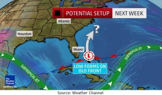 USA - Nad wschodnie wybrzeże nadciągnie nowe zjawisko pogodowe, nazwane zostało cyklonem podzwrotnikowym