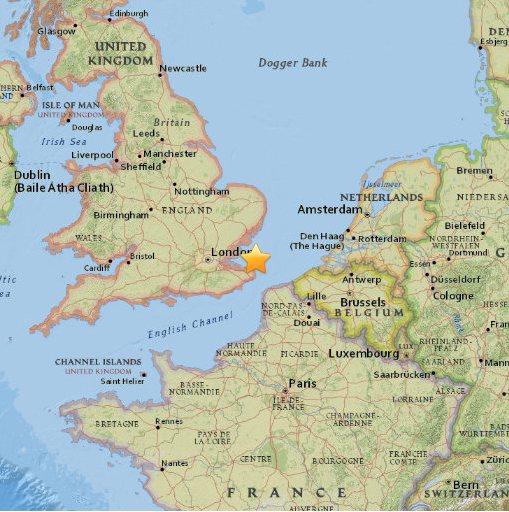 Wstrząsy sejsmiczne w UK