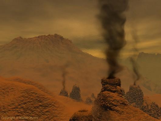Aktywne wulkany na Wenus - zdjęcie ilustracyjne