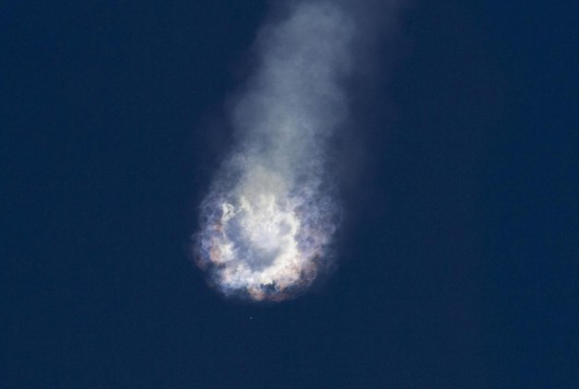 An unmanned SpaceX Falcon 9 rocket explodes after liftoff from Cape Canaveral, Florida, June 28, 2015. The rocket exploded about two minutes after liftoff on Sunday, destroying a cargo ship bound for the International Space Station, NASA said. REUTERS/Mike Brown  TPX IMAGES OF THE DAY
