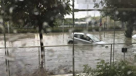 Hiszpania - Ogromna ulewa i gradobicie w Madrycie 2