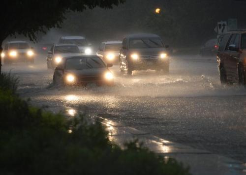 DENVER, CO - JUNE 11: Street flooding near Bayaud and Steele St. due to heavy rain June 11, 2015. (Photo by Andy Cross/The Denver Post)