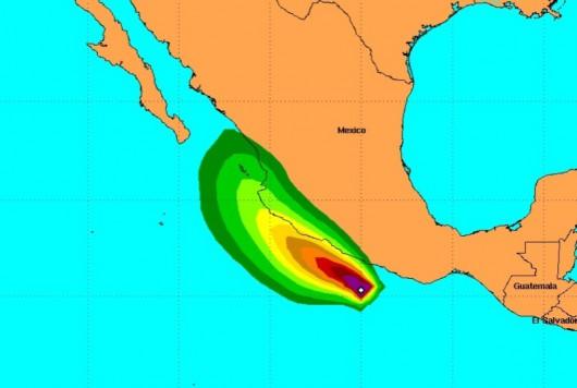 Huragan Carlos dotrze do meksykańskiego wybrzeża w niedzielę po południu
