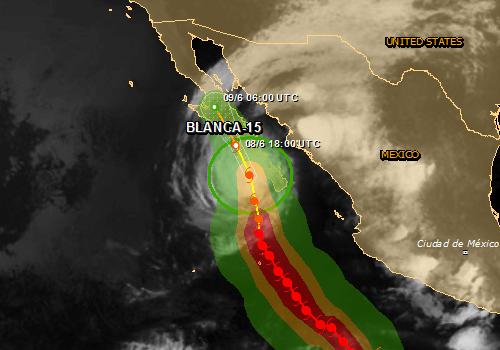 Meksyk - Do Półwyspu Kalifornijskiego zbliża się sztorm tropikalny Blanca 2