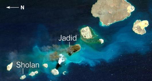 Między Afryką a Azją narodziły się dwie wyspy, powstały w rejonie podwodnych grzbietów, nazwano je Sholan i Jadid