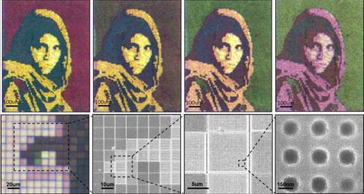 Opracowano elastyczny, nanocząsteczkowy ekran, który pod wpływem napięcia elektrycznego może dowolnie zmieniać barwę 2