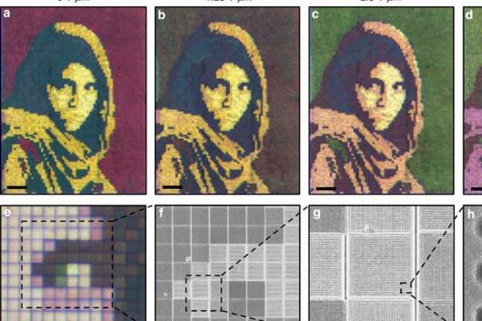 Opracowano elastyczny, nanocząsteczkowy ekran, który pod wpływem napięcia elektrycznego może dowolnie zmieniać barwę 3