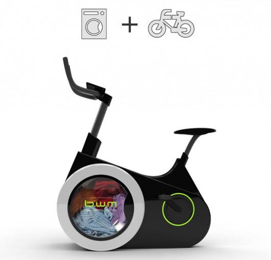 Rower do ćwiczeń i pralka w jednym