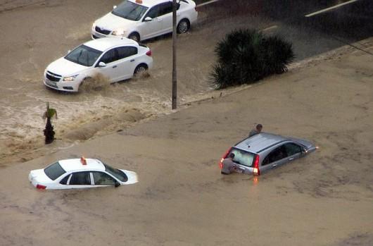 Soczi, Rosja - Ulewne deszcze i powódź 1