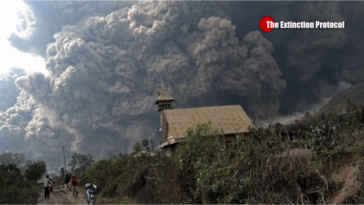 Sumatra - Erupcja wulkanu Sinabung 4