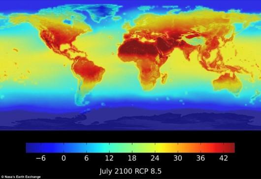 Tak może kształtować się temperatura w 2100 roku