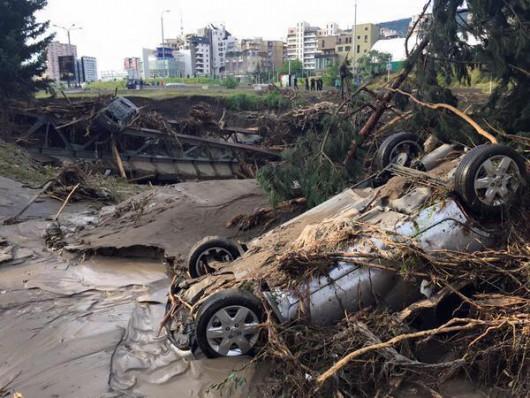 Tbilisi, Gruzja - Ogromna powódź w bardzo krótkim czasie 31
