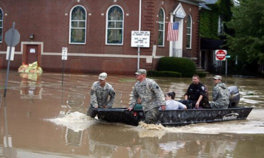 USA - Na północnym-wschodzie ulewne deszcze i powodzie 1
