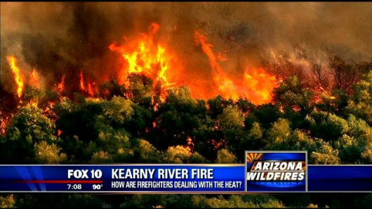 USA - Ogromne pożary w okolicach Phoenix w Arizonie 2
