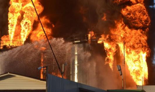 Wasylków, Ukraina – Kolejny wybuch w bazie naftowej 4