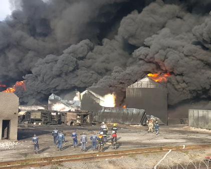 Wasylków, Ukraina – Kolejny wybuch w bazie naftowej 6