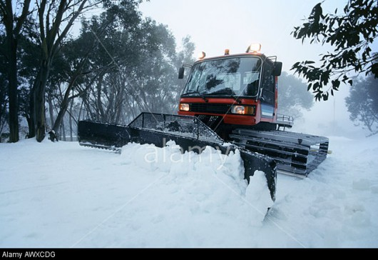 AWXCDG Snow clearing tractor, Mt Baw Baw, Victoria, Australia. Image shot 2007. Exact date unknown.