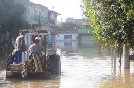 Brazylia - Pod wodą znalazło się 61 miejscowości na południu kraju -10