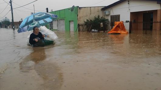 Brazylia - Pod wodą znalazło się 61 miejscowości na południu kraju -3