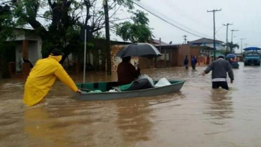Brazylia - Pod wodą znalazło się 61 miejscowości na południu kraju -5