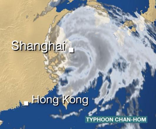 Chiny - Tajfun Chan-hom