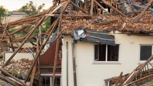 Framersheim, Niemcy - Trąba powietrzna uszkodziła około sto budynków 4