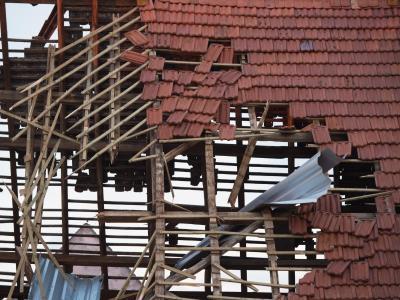 Framersheim, Niemcy - Trąba powietrzna uszkodziła około sto budynków 6